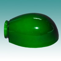 #1445 - Green Cased Gooseneck Shade - Glass Lampshades