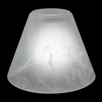 #7788 - Conical Faux Alabaster Shade - Glass Lampshades