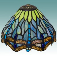 "#9596 S - Tiffany Style Lamp Shade 7"" - Glass Lampshades"