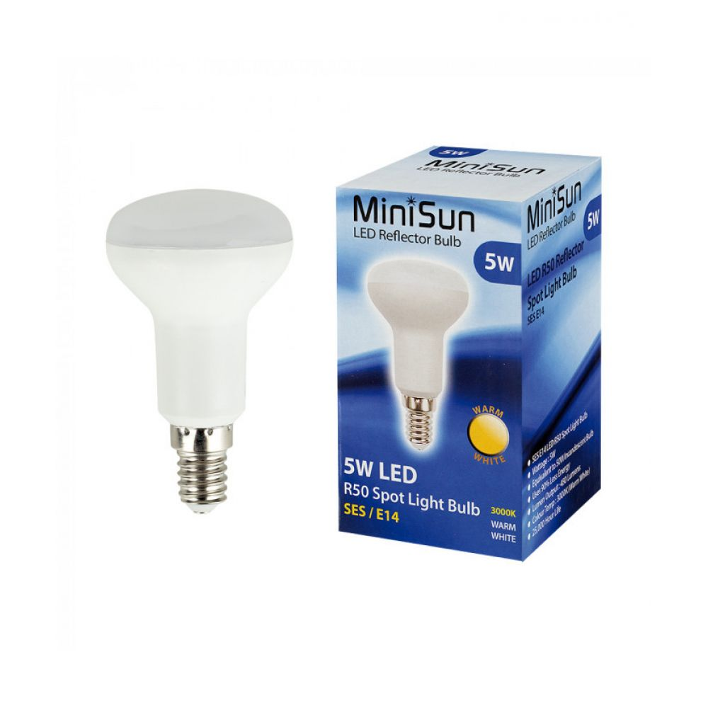 5 Watt Led Minisun R50 5 Watt Led Warm White Reflector Spotlight Bulb