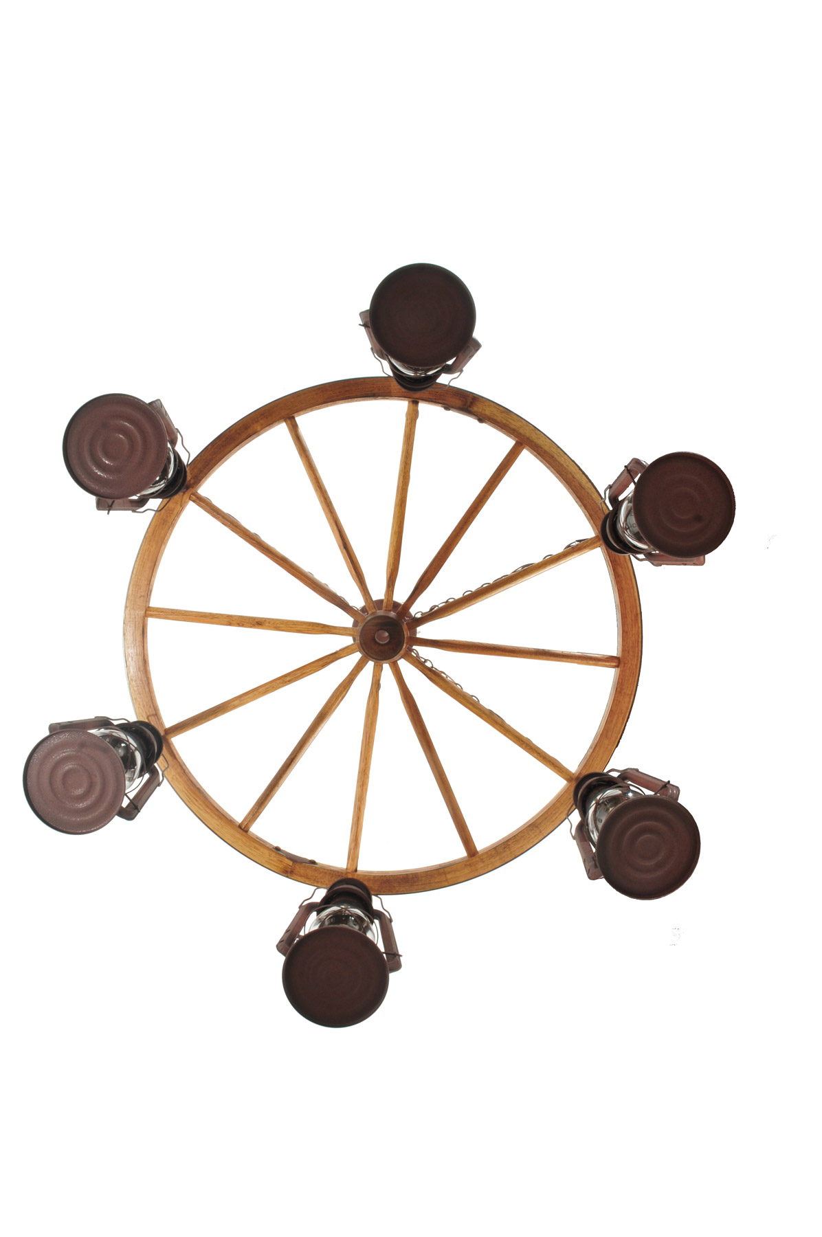 Wagon Wheel Chandelier Meyda 117204 Miners Lantern Wagon Wheel Six Light Chandelier