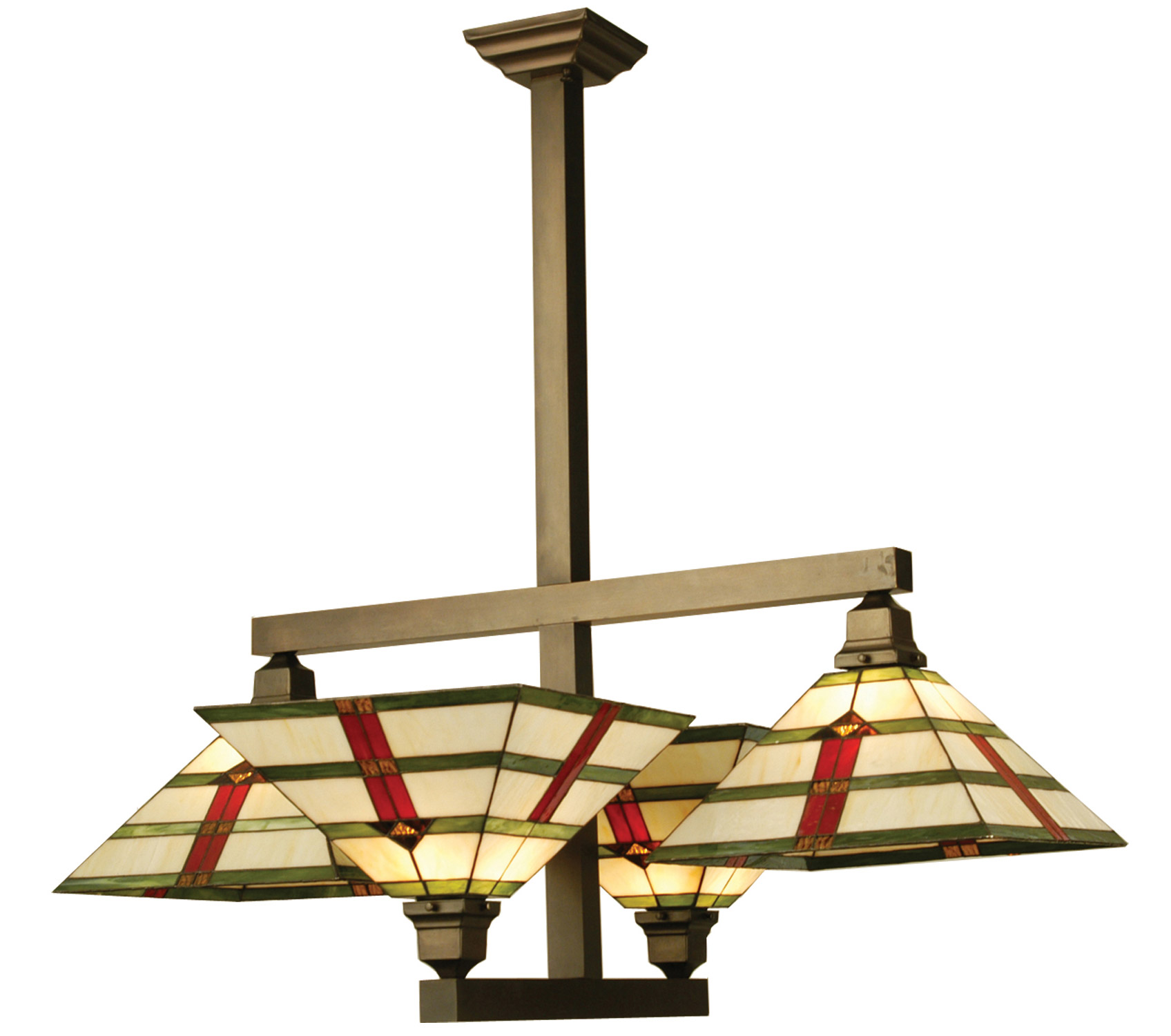 Mission Style Ceiling Light Meyda 65334 Prairie Arrowhead Semi Flush Ceiling Fixture