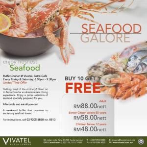Live cooking seafood di Vivatel Hotel mengancam