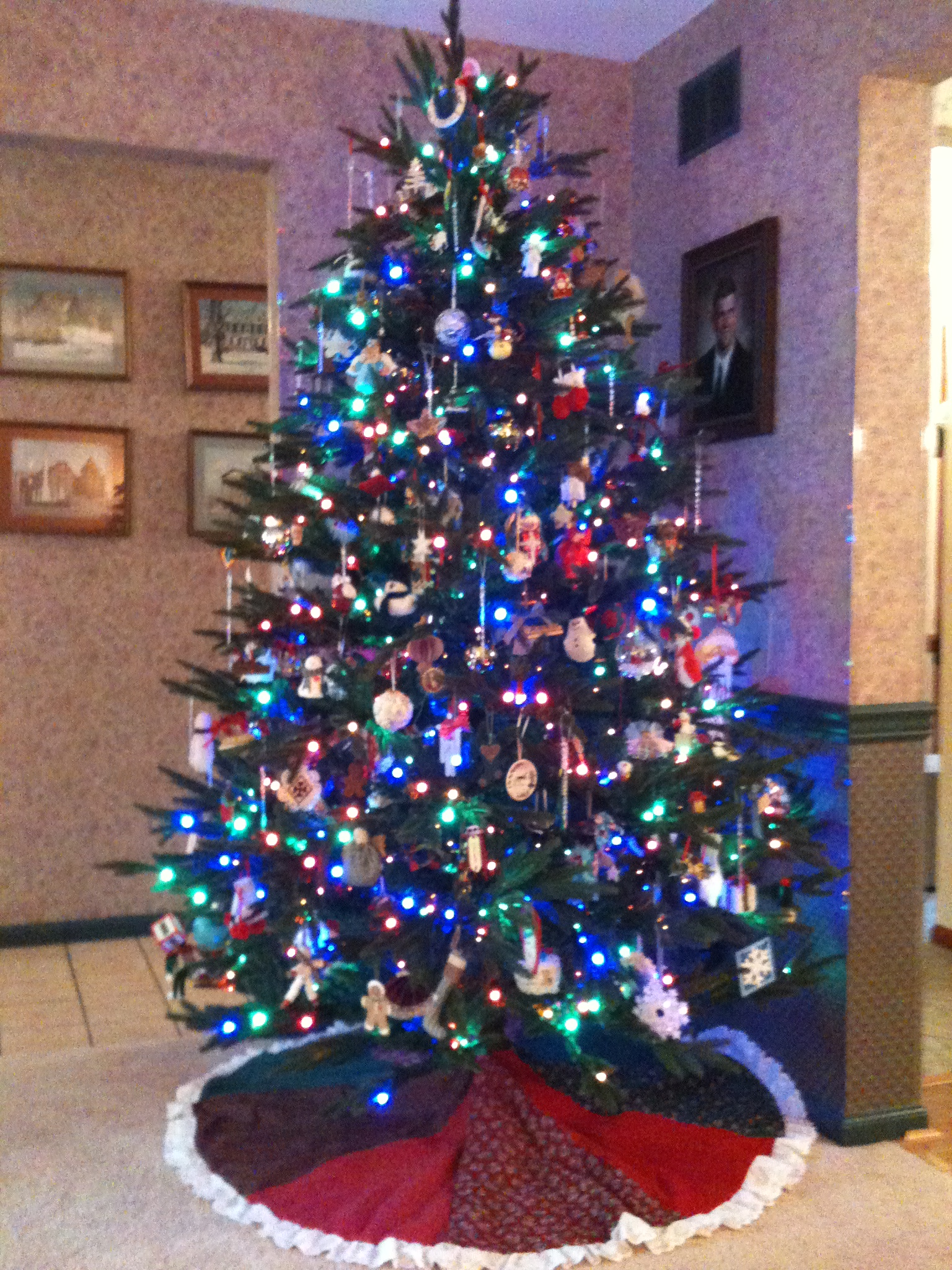 Led lights on your christmas tree help to reduce fire risks