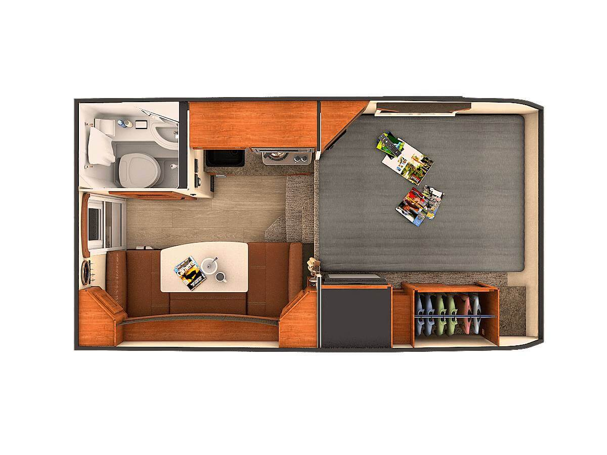 2018 Kodiak Travel Trailers Floor Plans Truck Camper Conversion Plans