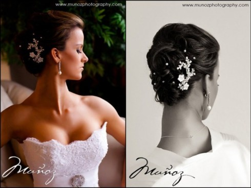 Hair by wedding stylist JV Galindo
