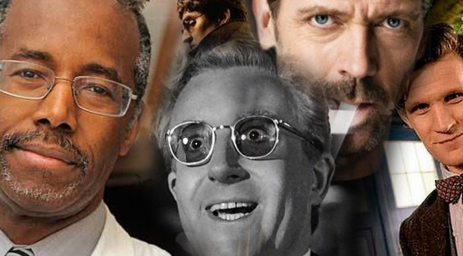 Dr. Ben Carson, Dr. Otto Octavious,  and Dr. Strangelove Hang Signs