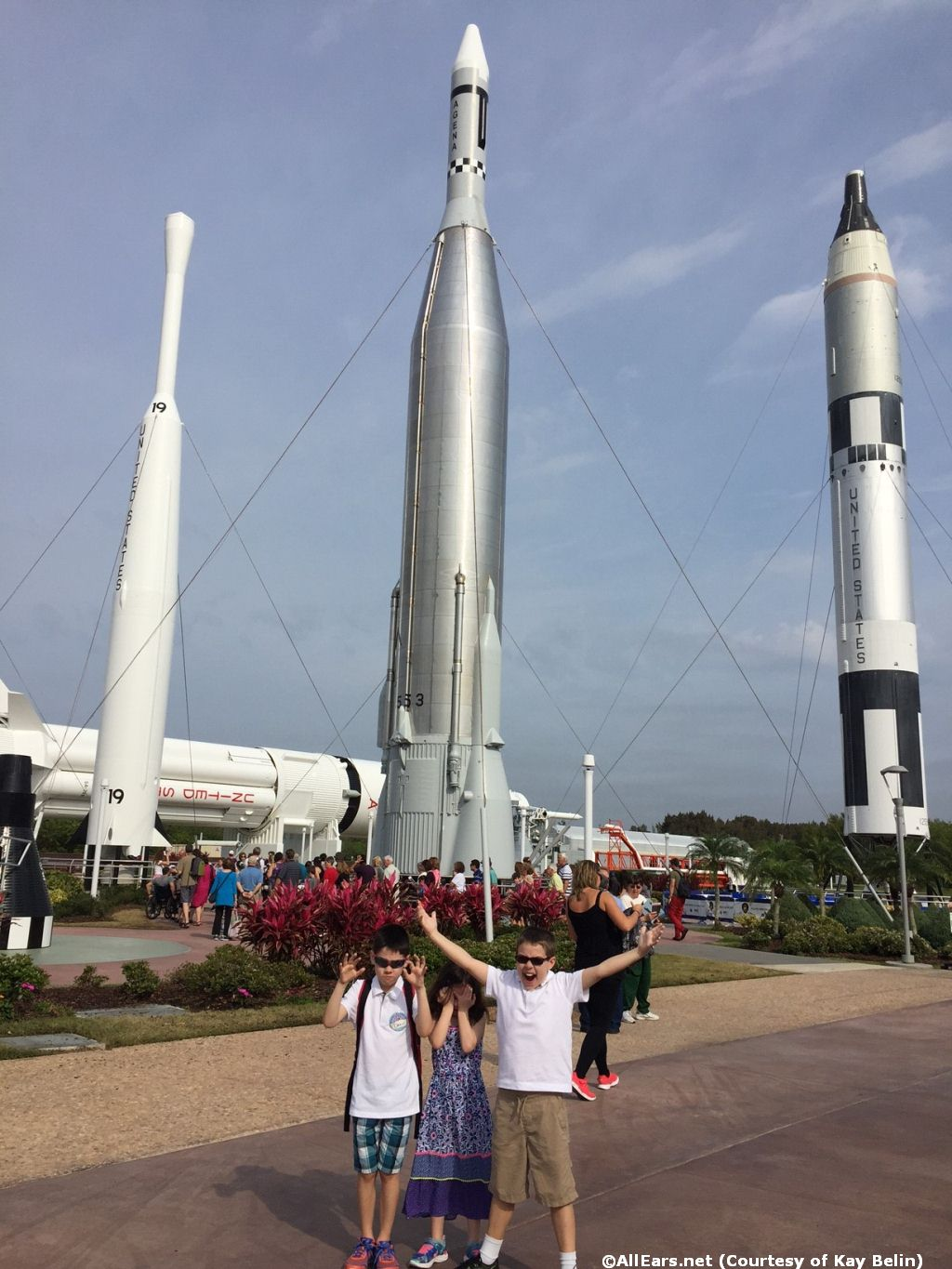Disneyland Florida Visiting Kennedy Space Center - Multi-generational Family