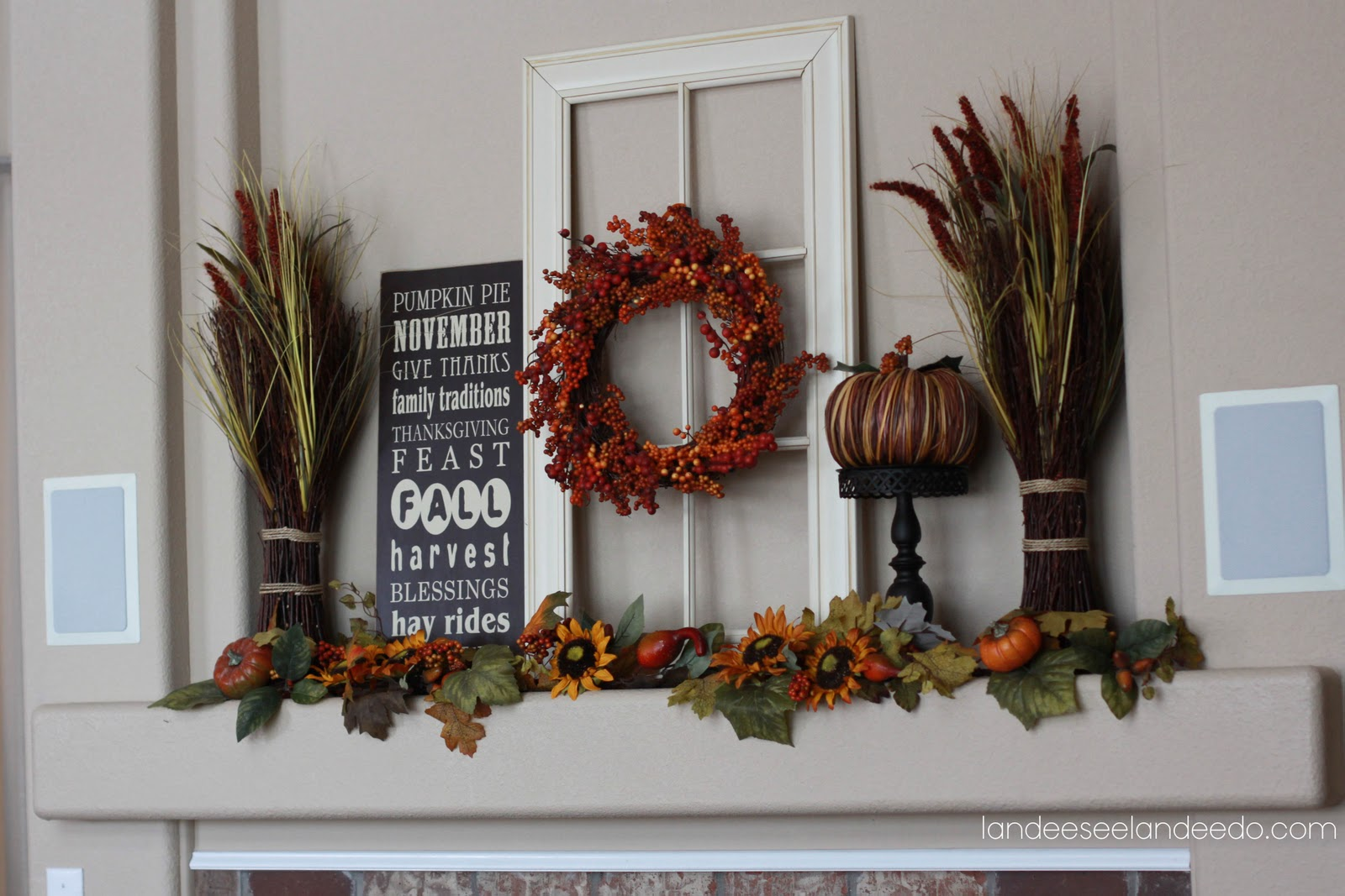 Mantelpiece Ideas Fall Mantel Landeelu
