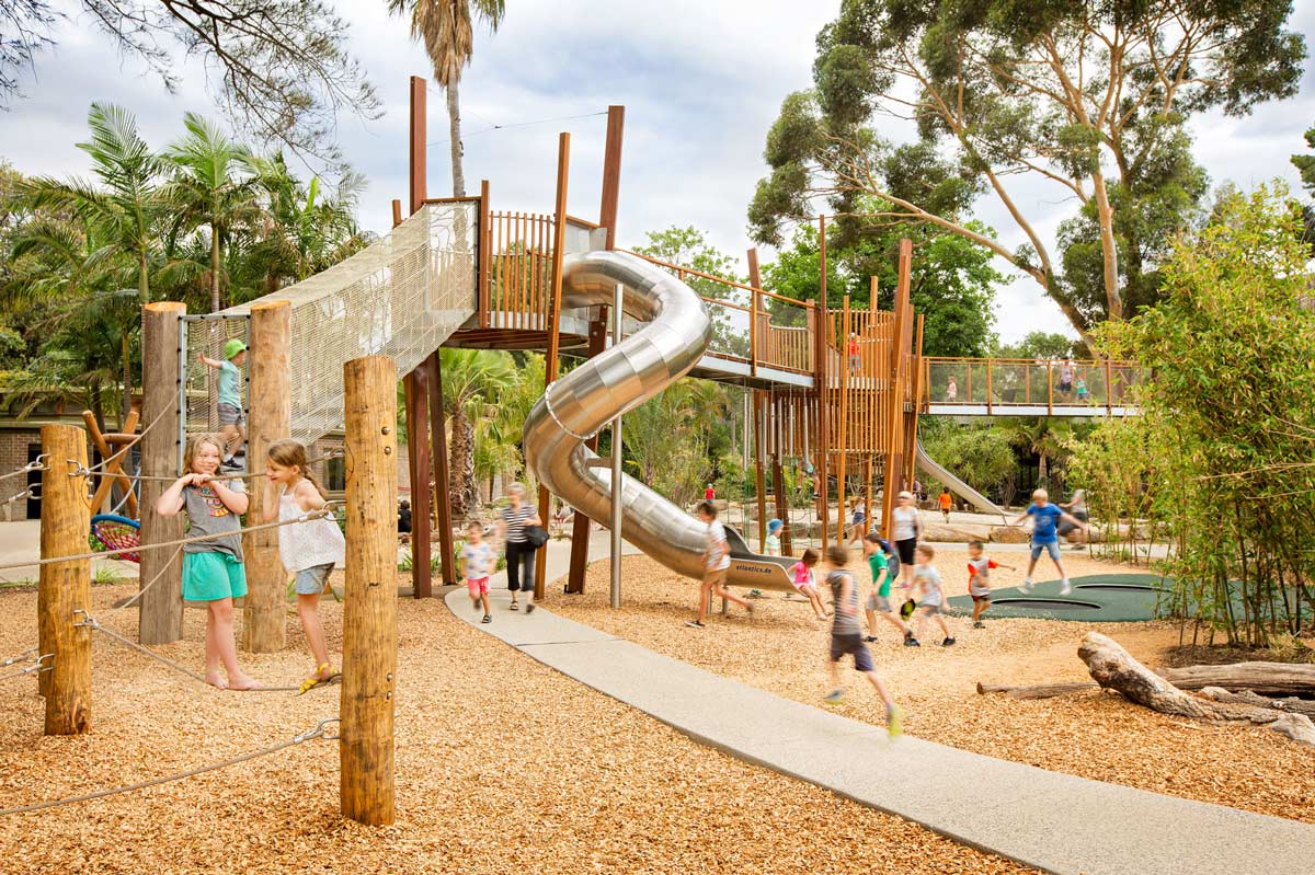Urban Treehouse Berlin Adelaide Zoo Natures Playground By Wax Design