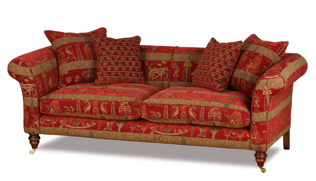 Chesterfield Sessel Stoffbezug Chesterton Cleopatra Red