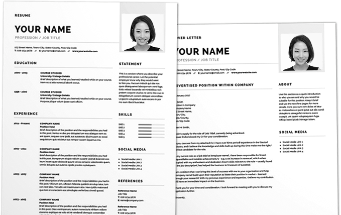 clean resume template 2017