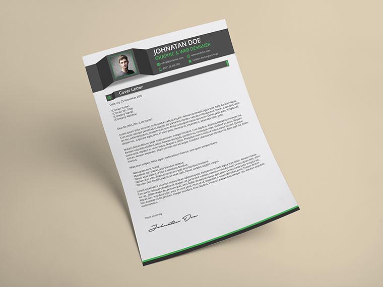Creative Resume CV, Cover Letter  Portfolio PSD Template - Landisher
