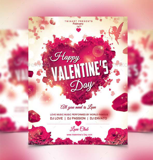 17 Best Valentines Day Flyers  Cards Templates - 2017