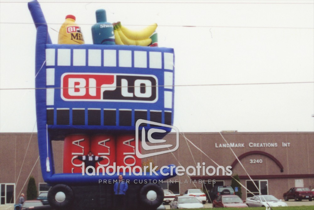 Bi-Lo Supermarkets Giant Inflatable Grocery Cart for Grand Opening