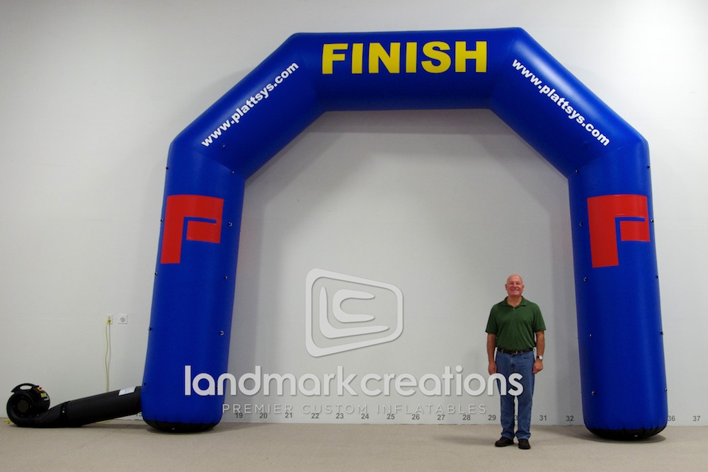 Plattsyscom Platt Timing Inflatable Finish Line Arch
