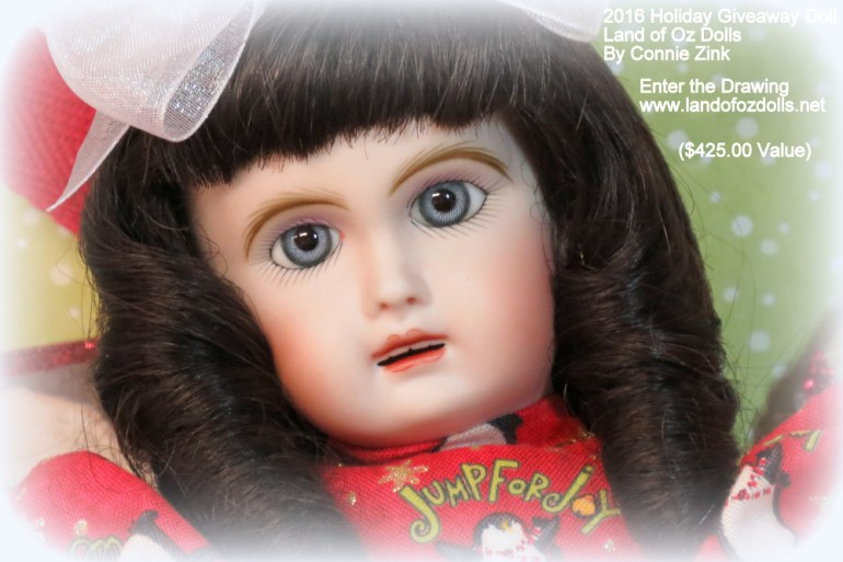 "2016 ""Holiday Giveaway"" Doll By Connie Zink Land of Oz Dolls"