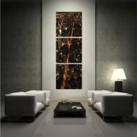 Manhattan Sky Vertical Triptych Photograph