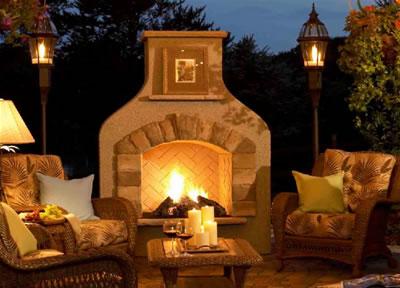 denver masonry brick flagstone concrete outdoor fireplace Chumney