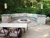 Fire Pit Bench by Landscape Solutions & Maintenance