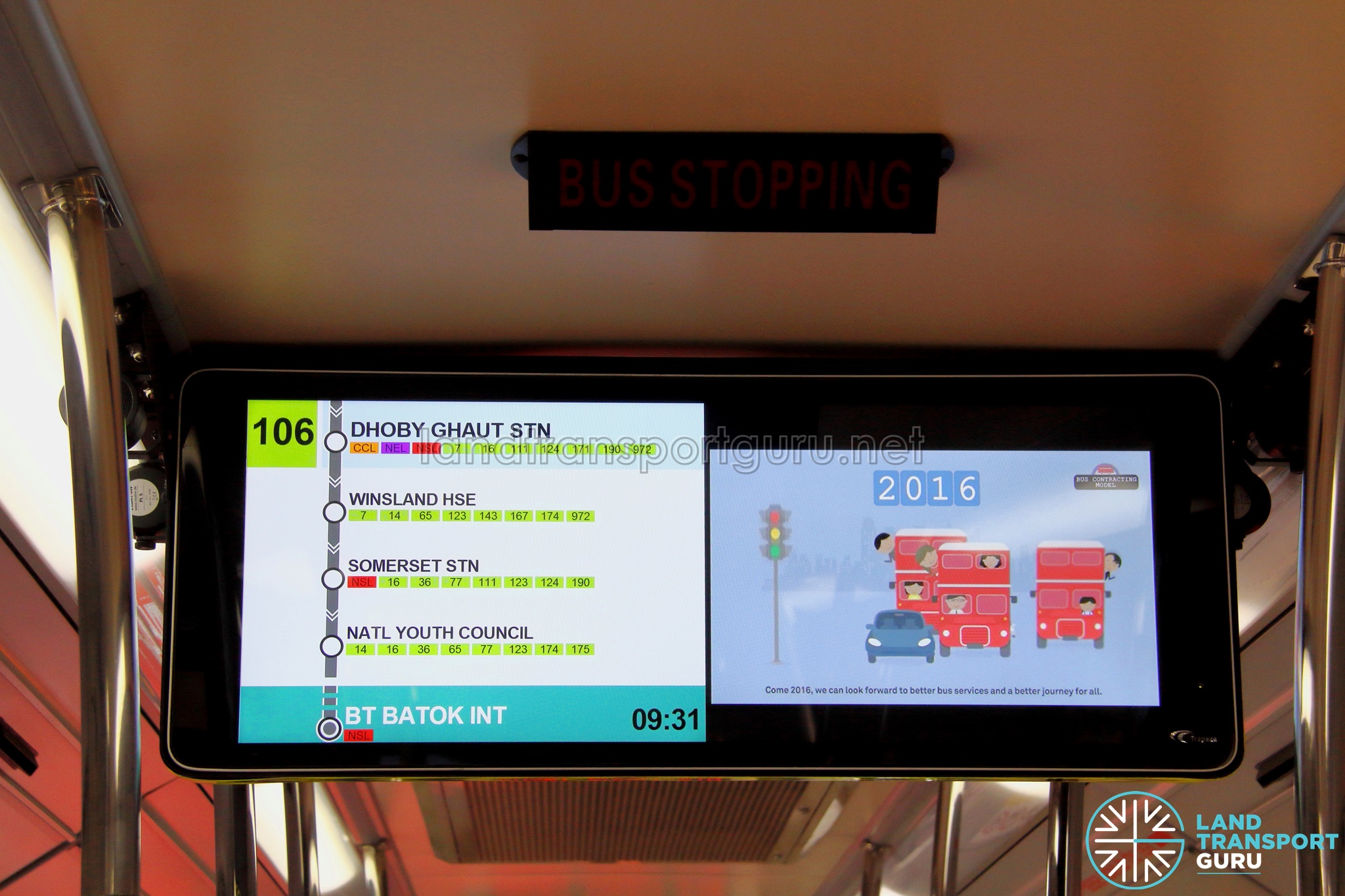Lta Trials New Information Display For Buses Land