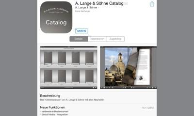 A. Lange & Söhne Katalog App