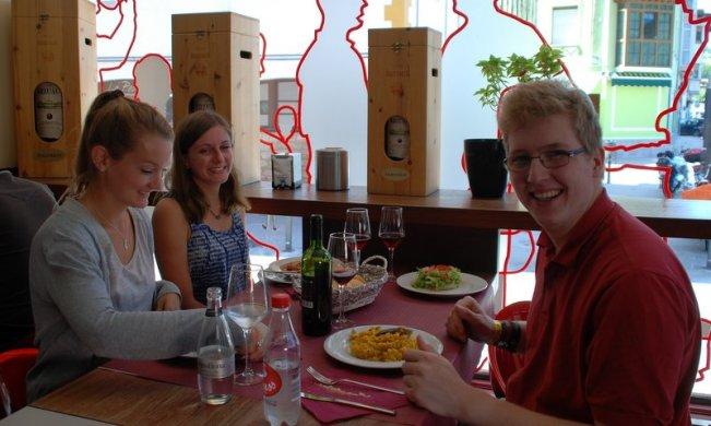 Tre tyskere og en dansker til 3 retters frokost