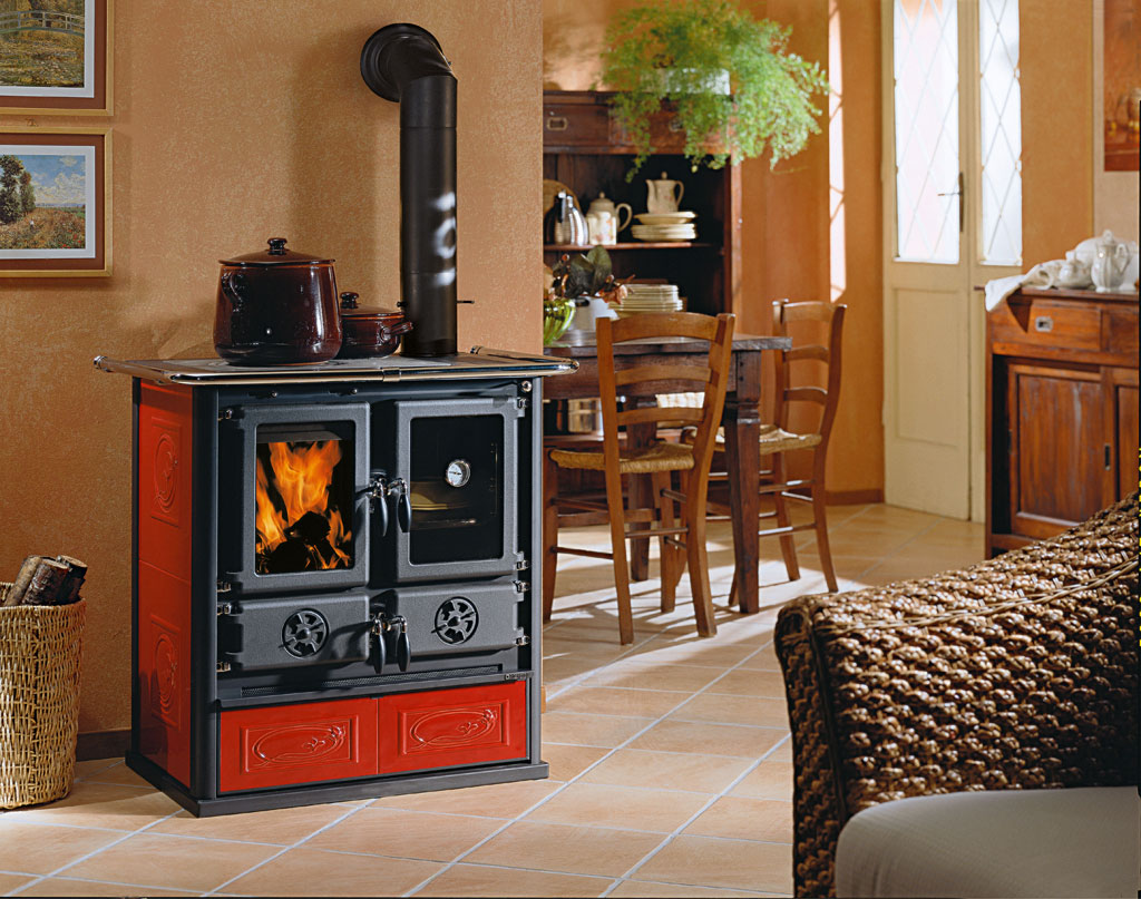 Holzherd Küchenofen Woodburning Cookers Rosetta Bii La Nordica Extraflame