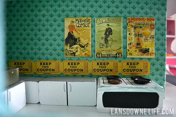 backsplash strip tickets raffle french dollhouse furniture kitchen set melissa doug