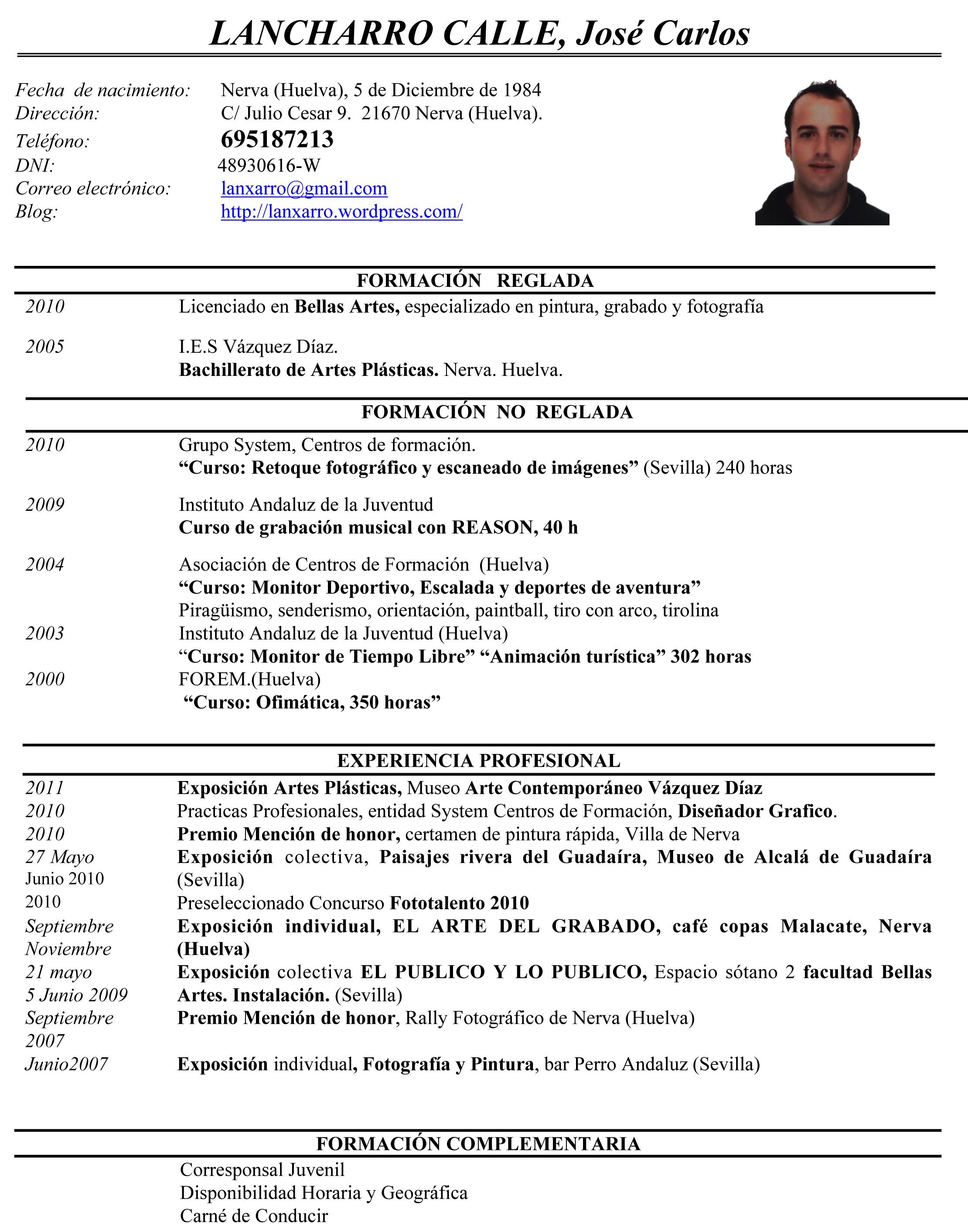 sample curriculum vitae it sample customer service resume sample curriculum vitae it curriculum vitae o cv found at lanxarrowordpresscv 2cv lancharro artistico 4