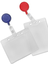 Retractable badge holder is contains a retractable reel
