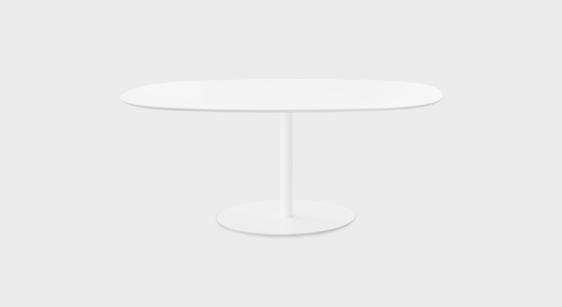 Table Arrondie RondÒ 180x110 Table Rectangulaire Arrondie Moderne 180x110 H73