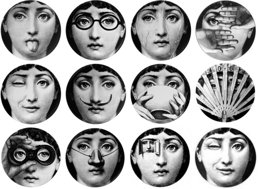 Fornasetti Face Wallpaper Haute Interiors Focus On Fornasetti