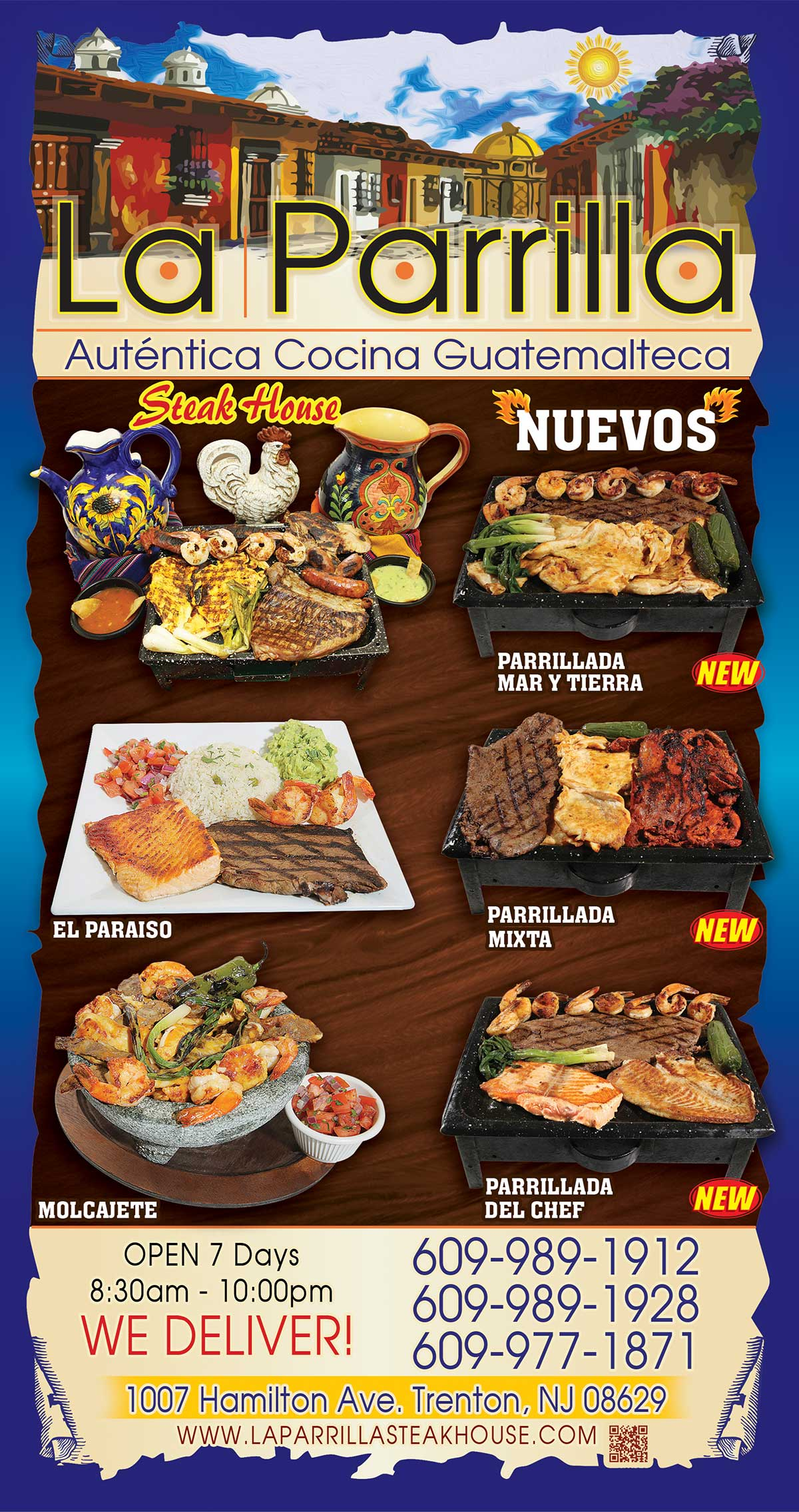La Cocina Restaurant Menu Menu La Parrilla Steak House
