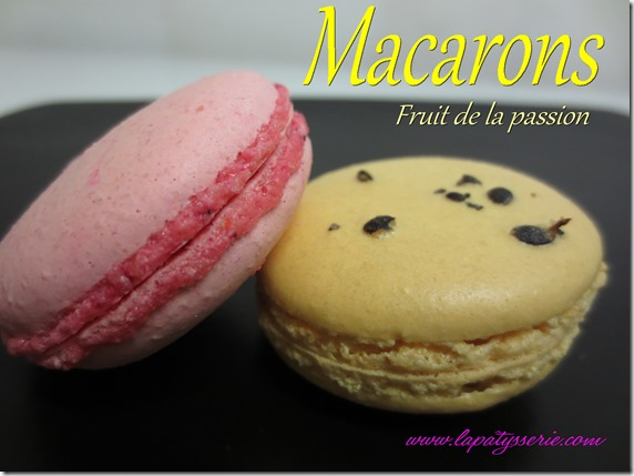 macarons fruit de la passion