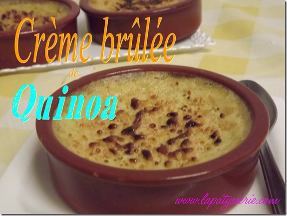 creme brûlée de quinoa