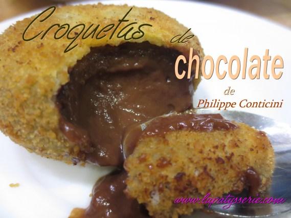 croquetas de chocolate