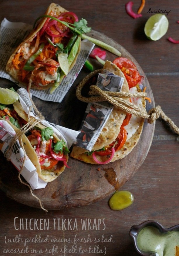 Chicken tikka wrap, a timeless classic dinner that has been given a smoky makeover . Serve these on the next Sunday brunch and wow people. All it takes is less than 30 mins.