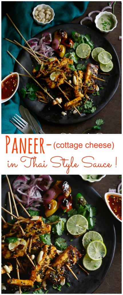 "Thai style paneer is an intriguing dish that takes a healthier and more flavorful twist to everyone's favorite good old ""paneer chilli"". Swap with tofu for a vegan option!"
