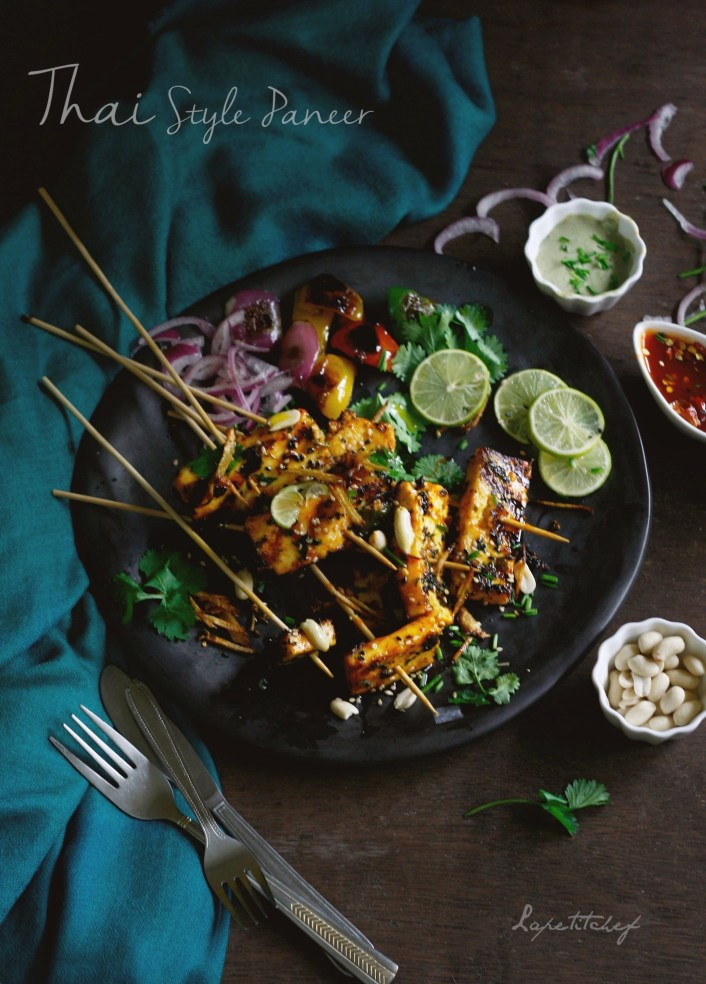 "Thai style paneer is an intriguing dish that takes a healthier and more flavorful twist to everyone's favorite good old ""paneer chilli""."