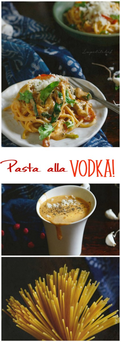 Pasta alla vodka is an easy, quick one pot pasta dish and an indulgence one must give in to! Classic tomato cream sauce gets an adult makeover with vodka
