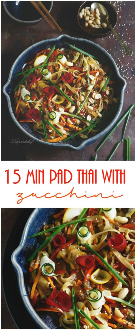 15min pad thai with shaved zucchini