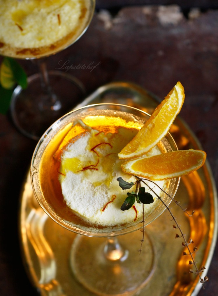 Organic vanilla lime pannacotta with honey saffron gelee isn't laden ...