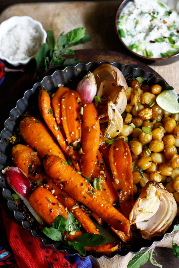 whiskey and honey roasted carrots