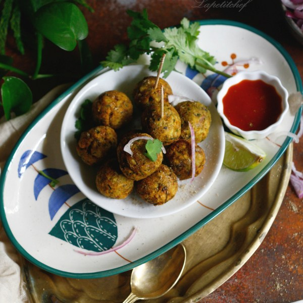 plantain kofta with organic chickpea flour