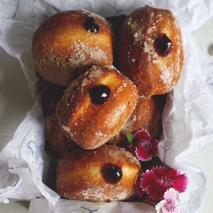 blueberry compote doughnuts