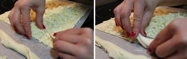 Proceso elaboración palitos de hojaldre