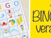 imprimible bingo de verano