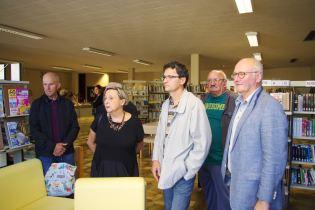 Le maire Luc Gerecke et quelques-uns de ses adjoints étaient présents pour inaugurer cette expo photos.