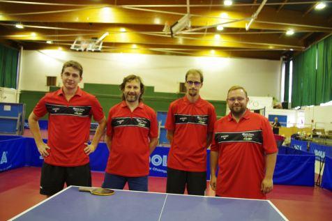 L'équipe déodatienne composée de Corentin Lamaze, Laurent Chrétien, Jean-Philippe Britz et Jérôme Dombrat (de g. à dr.)